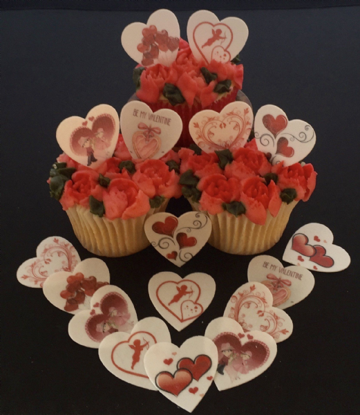 Edible Cake Toppers - Valentines Day